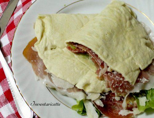 Piadina Romagnola con culatello pecorino e pomodori secchi