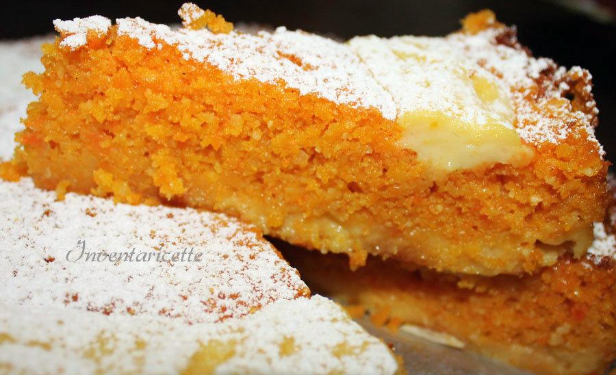 TORTA CAROTE MANDORLE CREMA ARANCIA ricetta torta con crema