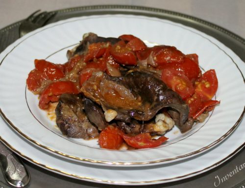 Cuore Vitello con Cipolle e Pomodorini