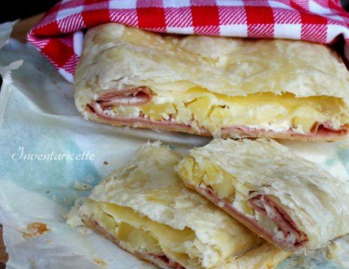 Torta salata mortadella patate e formaggio