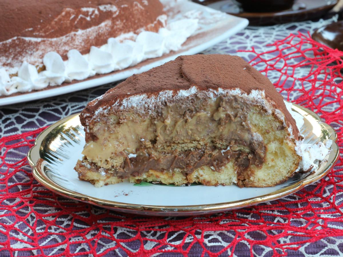 ZUCCOTTO ALLA CREMA ricetta con crema al caramello e nutella