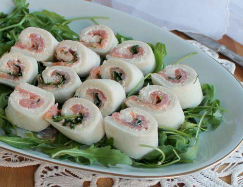 GIRELLE AL SALMONE AFFUMICATO ricetta veloce