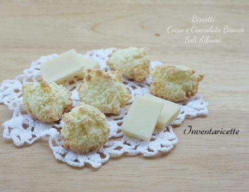 Biscotti Cocco e Cioccolato Bianco   Soli Albumi
