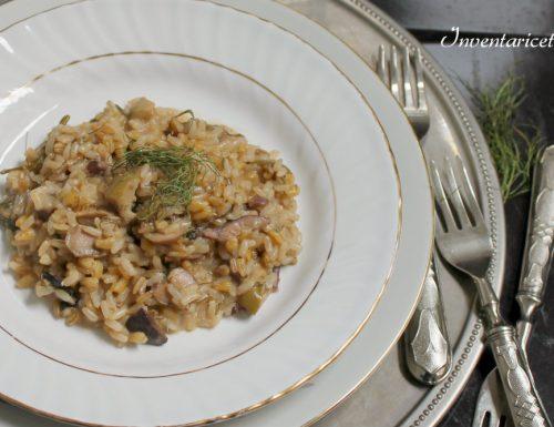 Risotto cremoso ai 3 Cereali con Taggiasche e Finocchi
