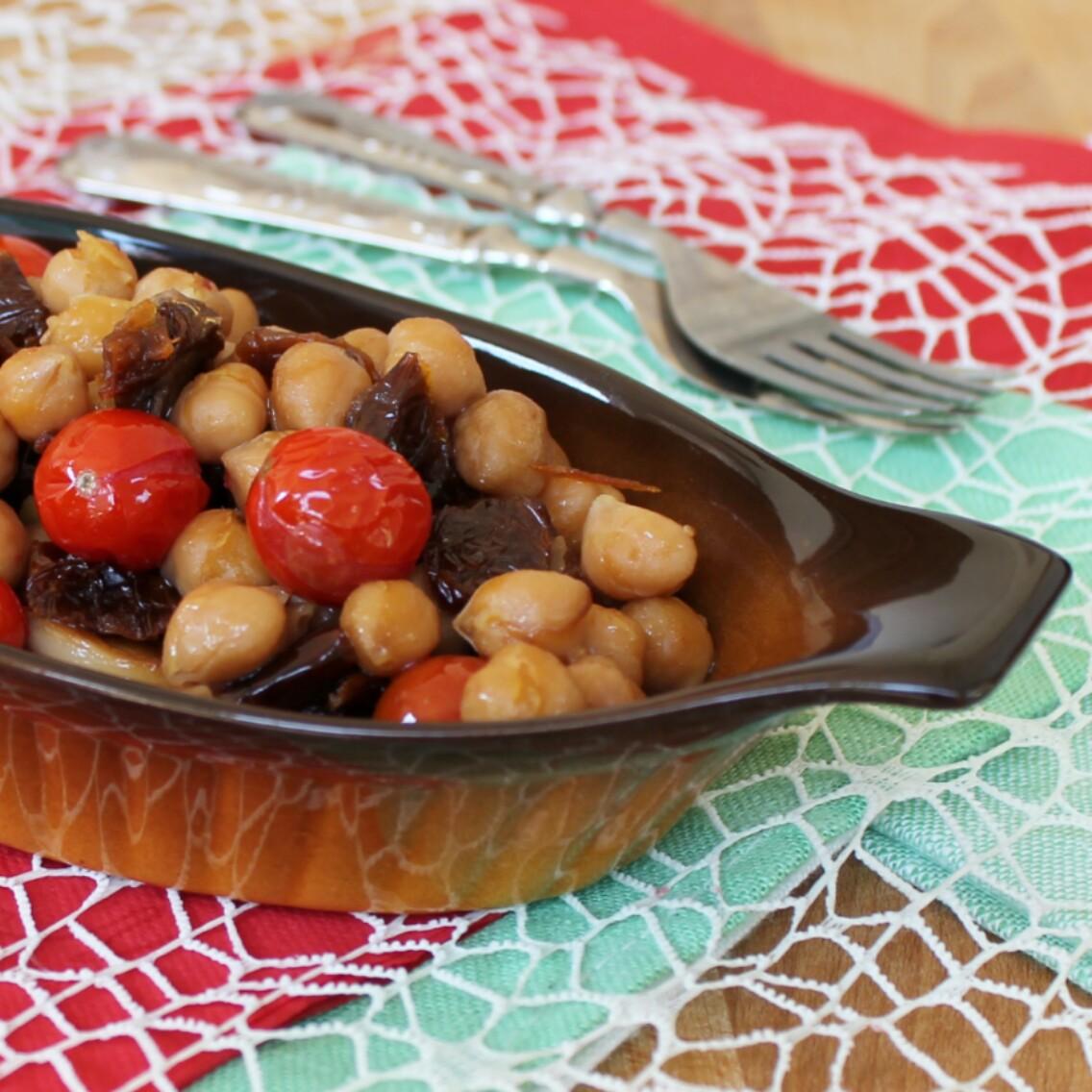 RICETTA CECI IN PADELLA contorno tiepido oppure zuppa calda di ceci