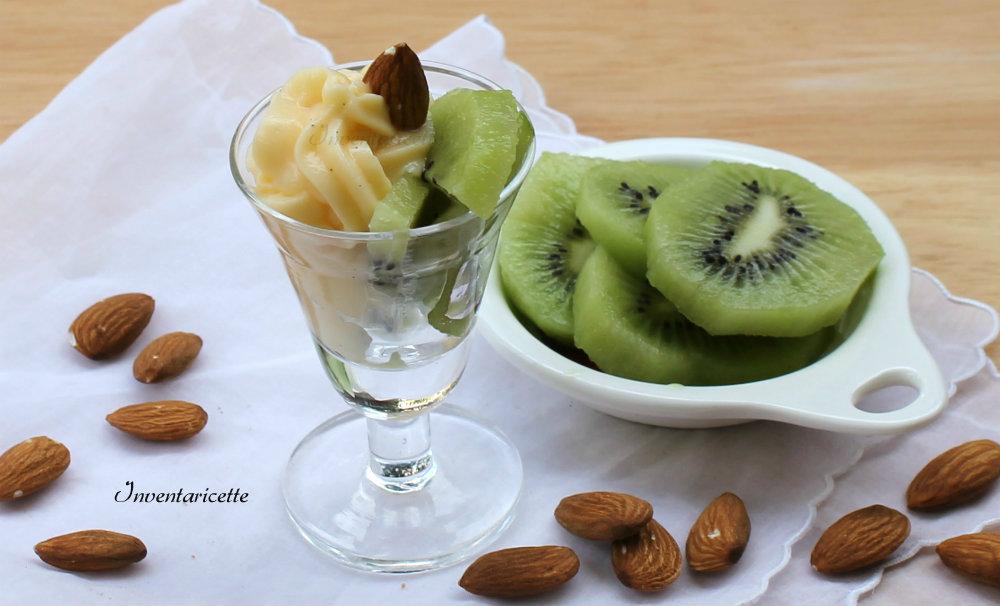 Bicchierini Dolci con Crema alle Mandorle e Kiwi