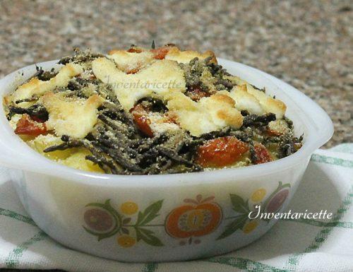 Millefoglie di Asparagi Patate e Mozzarella
