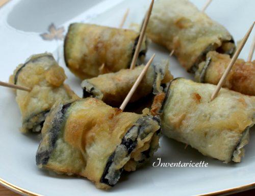 Rotolini di Melanzane in Pastella | Ricetta Facile