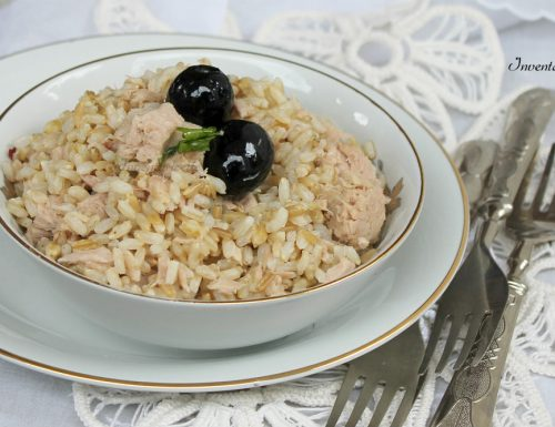 Insalata Fredda ai Tre Cereali con Tonno e Olive