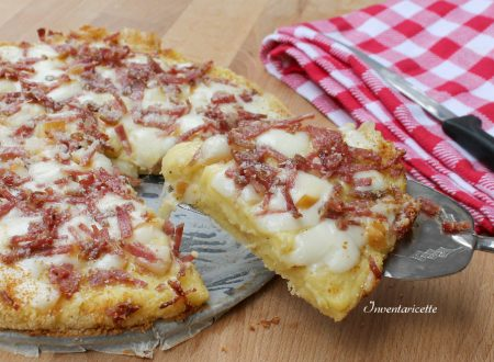 Pizza di Patate con Provola e Salame