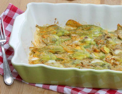 Fiori di zucca Alici e Mozzarella | Ricetta al forno