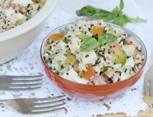 Insalata con Bulgur e Quinoa Rossa