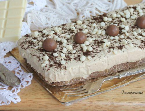 Torta Fredda al Cioccolato Bianco e Caffè   Senza Cottura