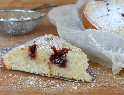 Torta soffice limone e marmellata | Vegan