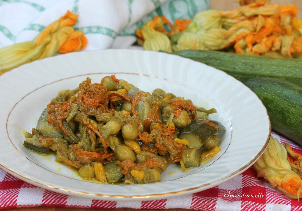 Fiori di zucca in padella con le Zucchine