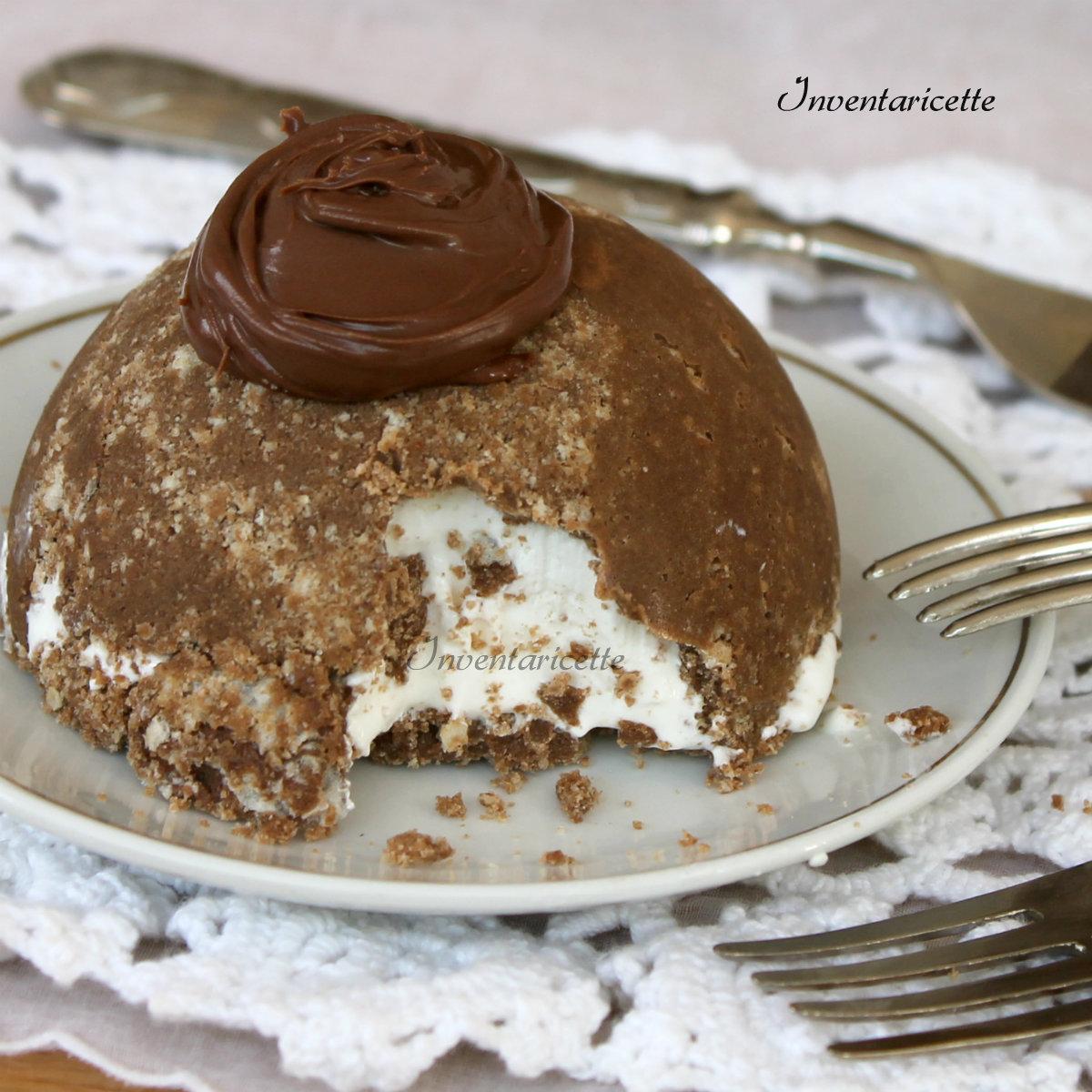 Mini dessert gelato alla vaniglia e nutella   Semifreddo gelato