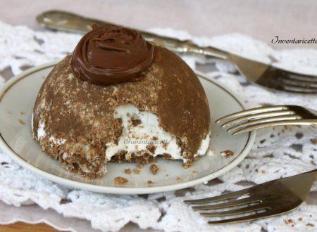 Mini dessert gelato alla vaniglia e nutella