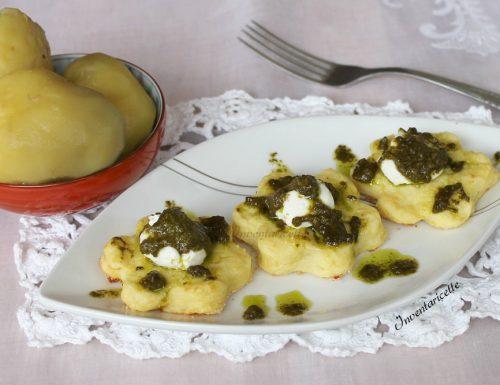Stuzzichini di patate al Pesto