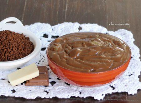 Crema pasticcera al caffè e doppio cioccolato | Senza uova