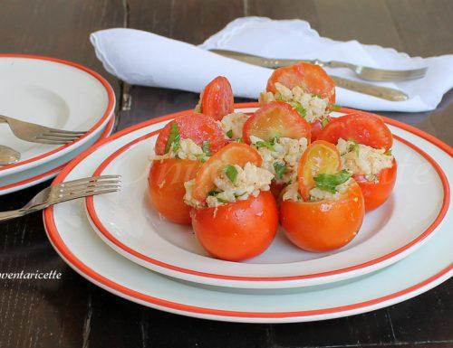 Pomodori ripieni di riso tonnato