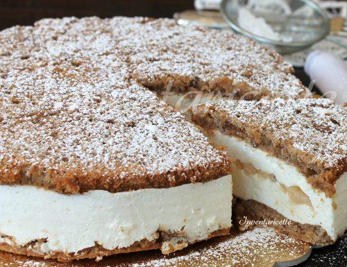 Biscotto per torta ricotta e pere