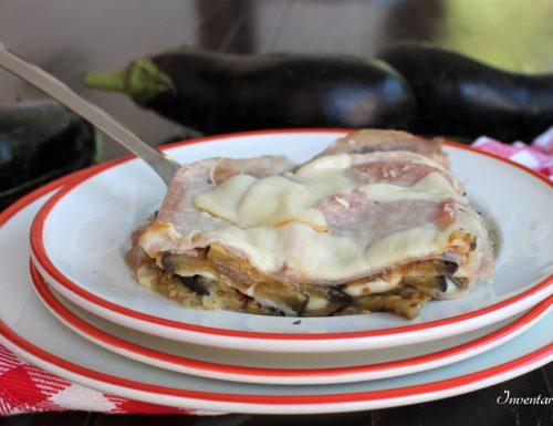Parmigiana di melanzane bianca leggera