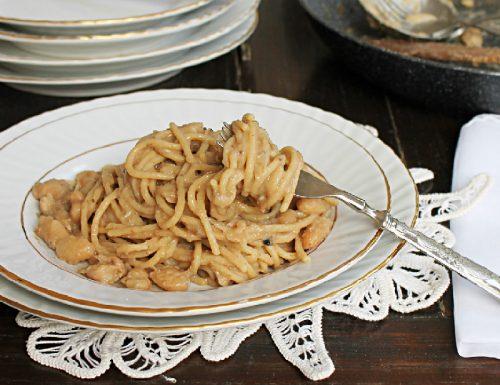 Spaghetti alla crema di tartufo e cannellini