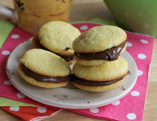 Biscotti baciati alla nutella