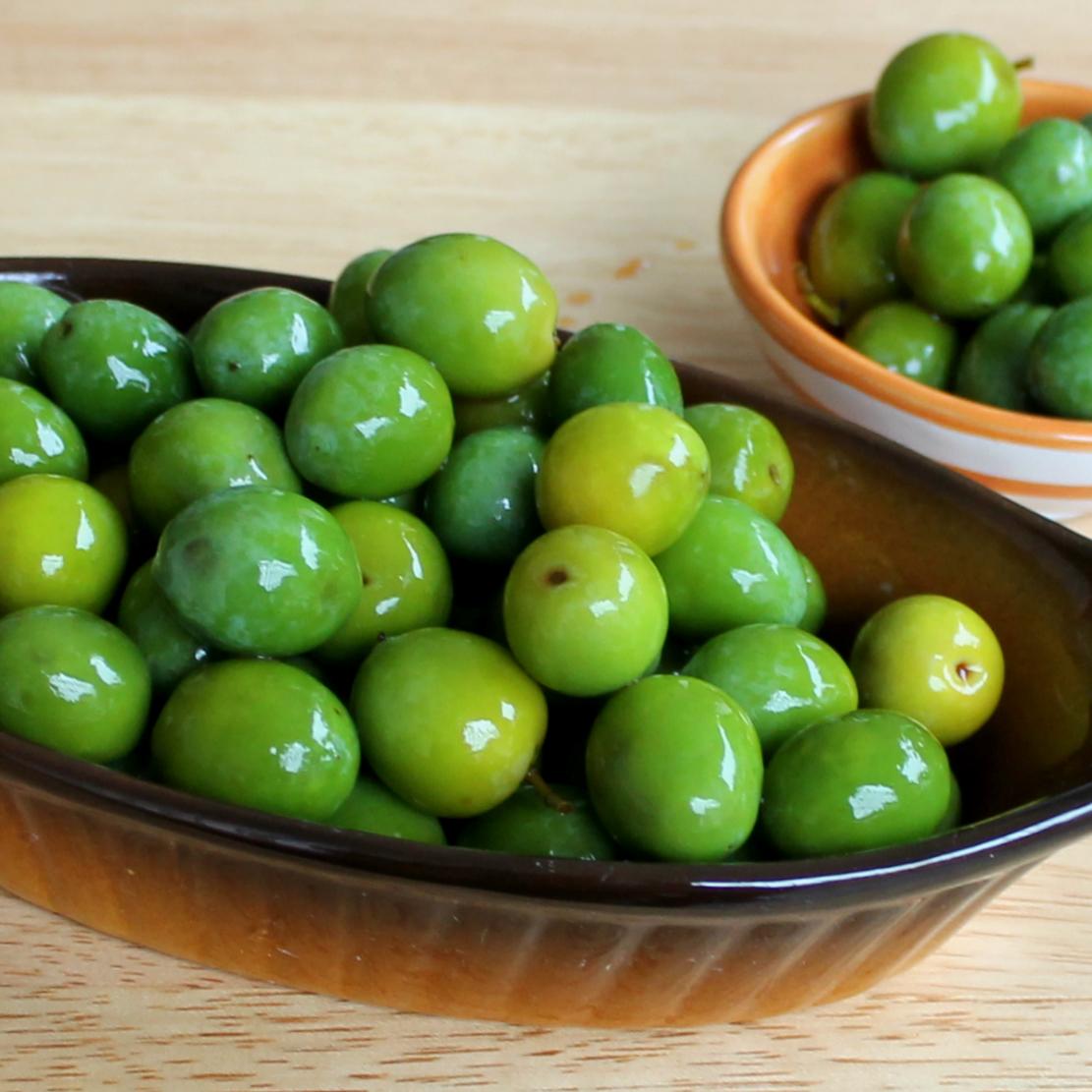Olive addolcite con soda