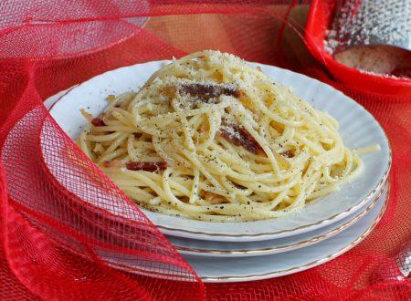 Spaghetti alla gricia con speck