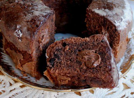 Ciambellone con Nutella e cioccolato