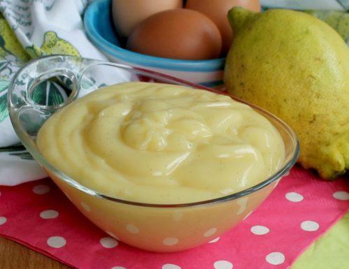Crema pasticcera limone  Ricetta classica
