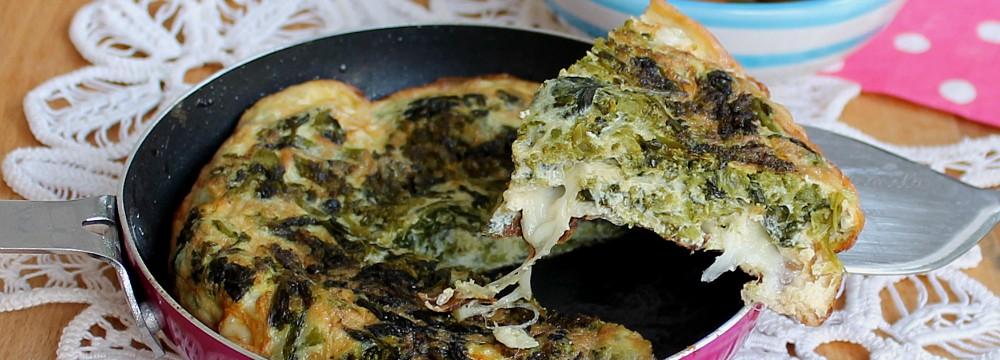 frittata recipes baked spaghetti frittata with broccoli rabe and ...
