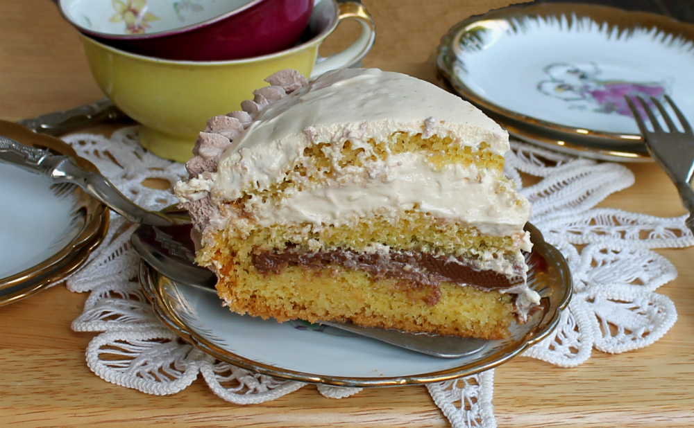 Torta zabaione e cioccolato