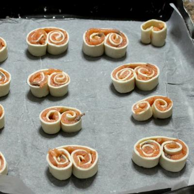 ventagli di sfoglia prosciutto e formaggio ricetta
