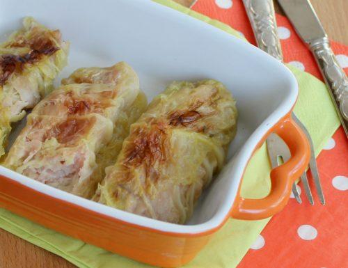 FAGOTTINI DI VERZA con prosciutto e formaggio