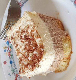 Bavarese caffè e cioccolato bianco e al latte