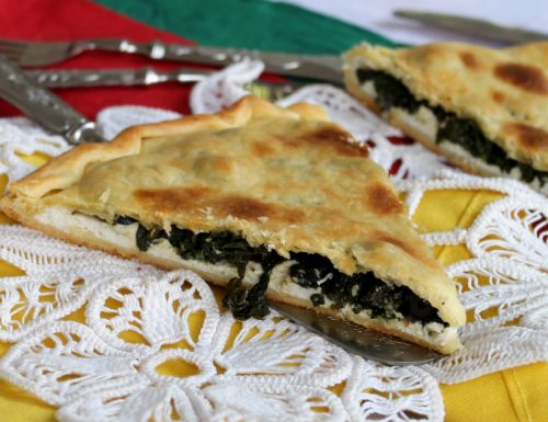 TORTA RUSTICA SPINACI E RICOTTA alle olive