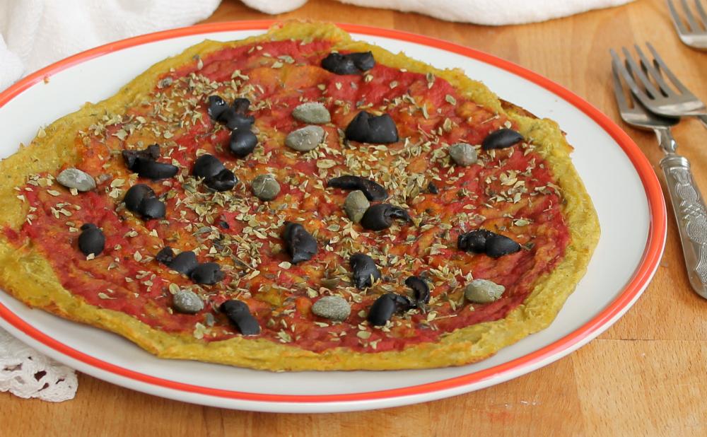 PIZZA DI ZUCCHINE E CECI ricetta facile e veloce