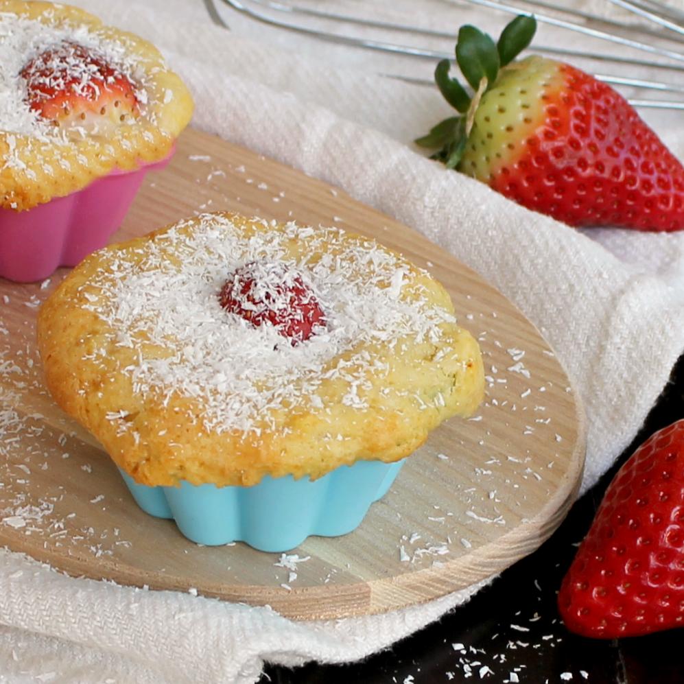 Tortine fragole e cocco morbidissime