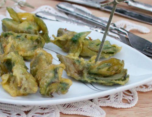 CARCIOFI IN PASTELLA CROCCANTE ricetta senza uova