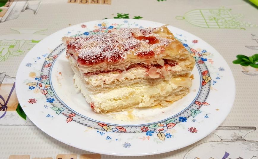 TORTA FRAGOLE E COCCO millefoglie veloce con mascarpone