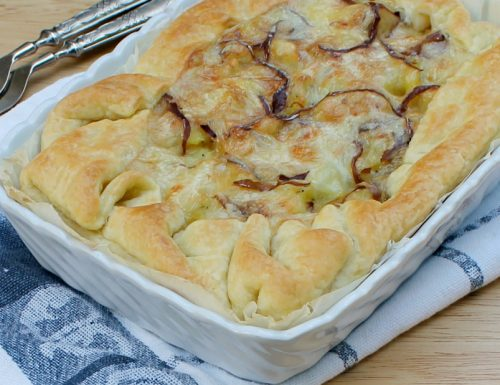 RUSTICO SFOGLIA E PATATE ricetta con prosciutto e formaggio