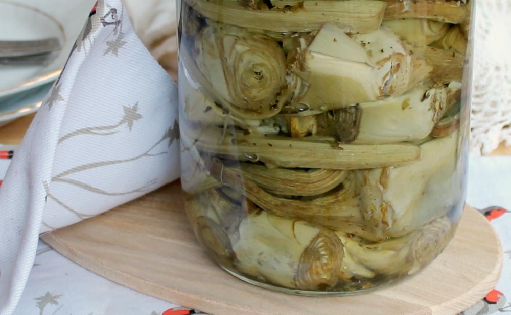 CARCIOFI SOTT'OLIO come conservare i carciofi e mangiarli tutto l'anno