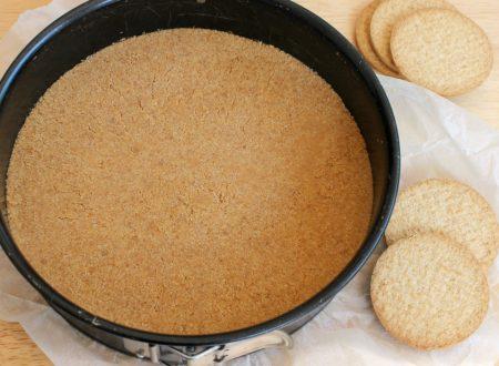 BISCOTTO PER CHEESECAKE ricetta leggera con olio