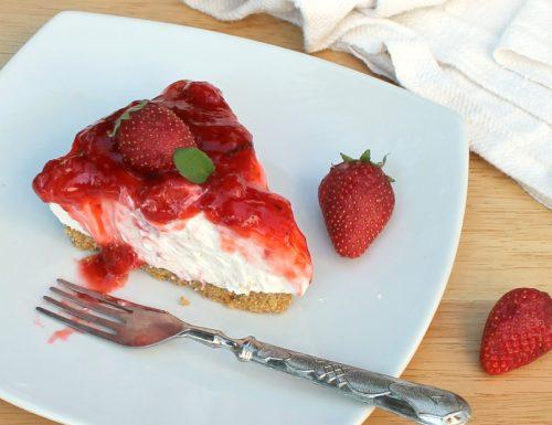 CHEESECAKE FREDDA ALLE FRAGOLE ricetta torta senza forno