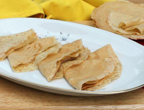 RICETTA CREPES SENZA BURRO ricetta base crespelle dolci o salate