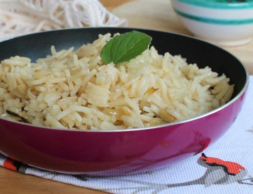 COME CUOCERE IL RISO PILAF IN PADELLA ricetta senza forno