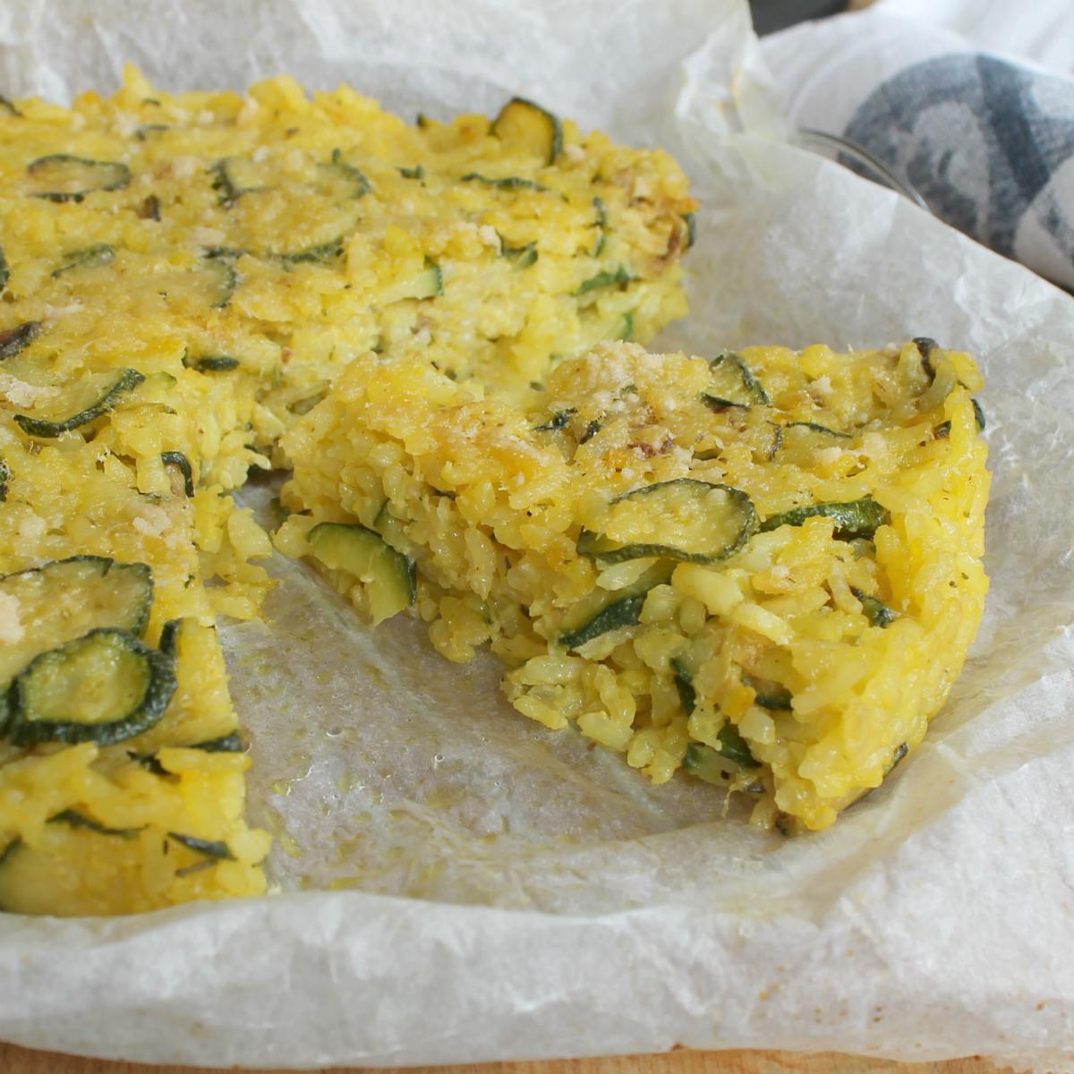 TORTA RISO ZUCCHINE E FORMAGGIO ricetta torta salata zucchine