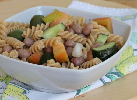PASTA E FAGIOLI ESTIVA insalata fredda di pasta e fagioli borlotti